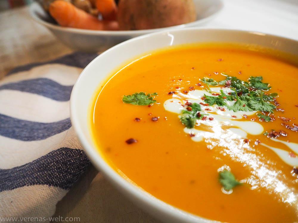 Schnelle Süßkartoffel-Kokos-Suppe